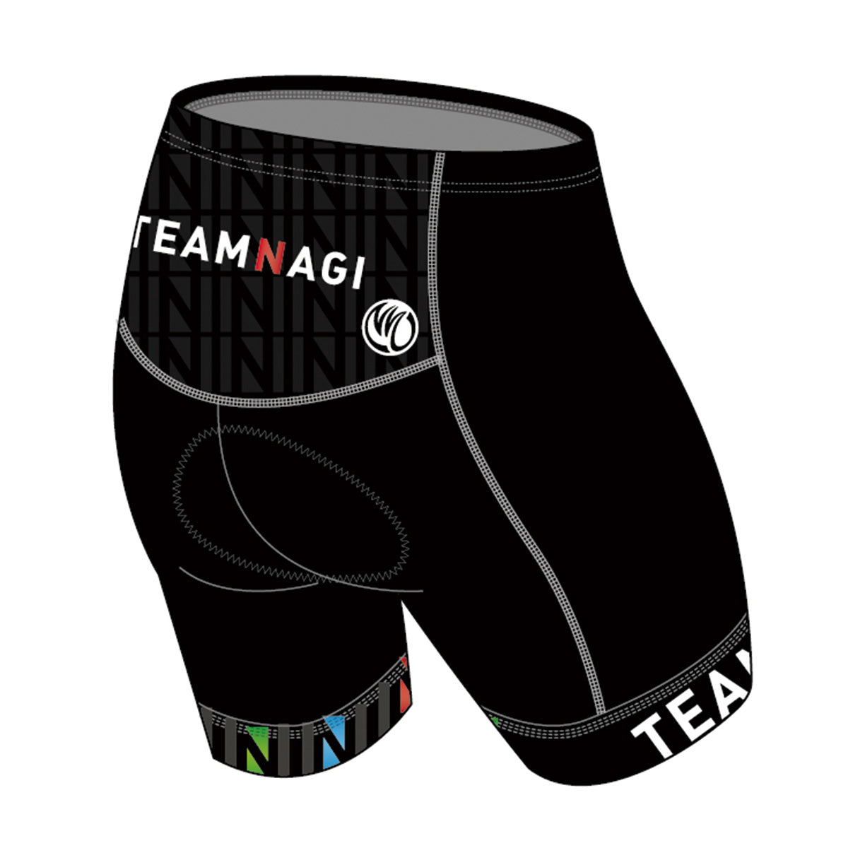 Team Nagi BLACK BRONZE Tri Shorts