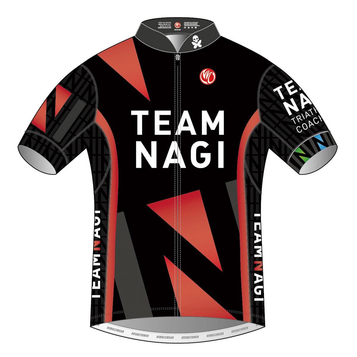 Team Nagi BLACK PRO SS Cycling Jersey