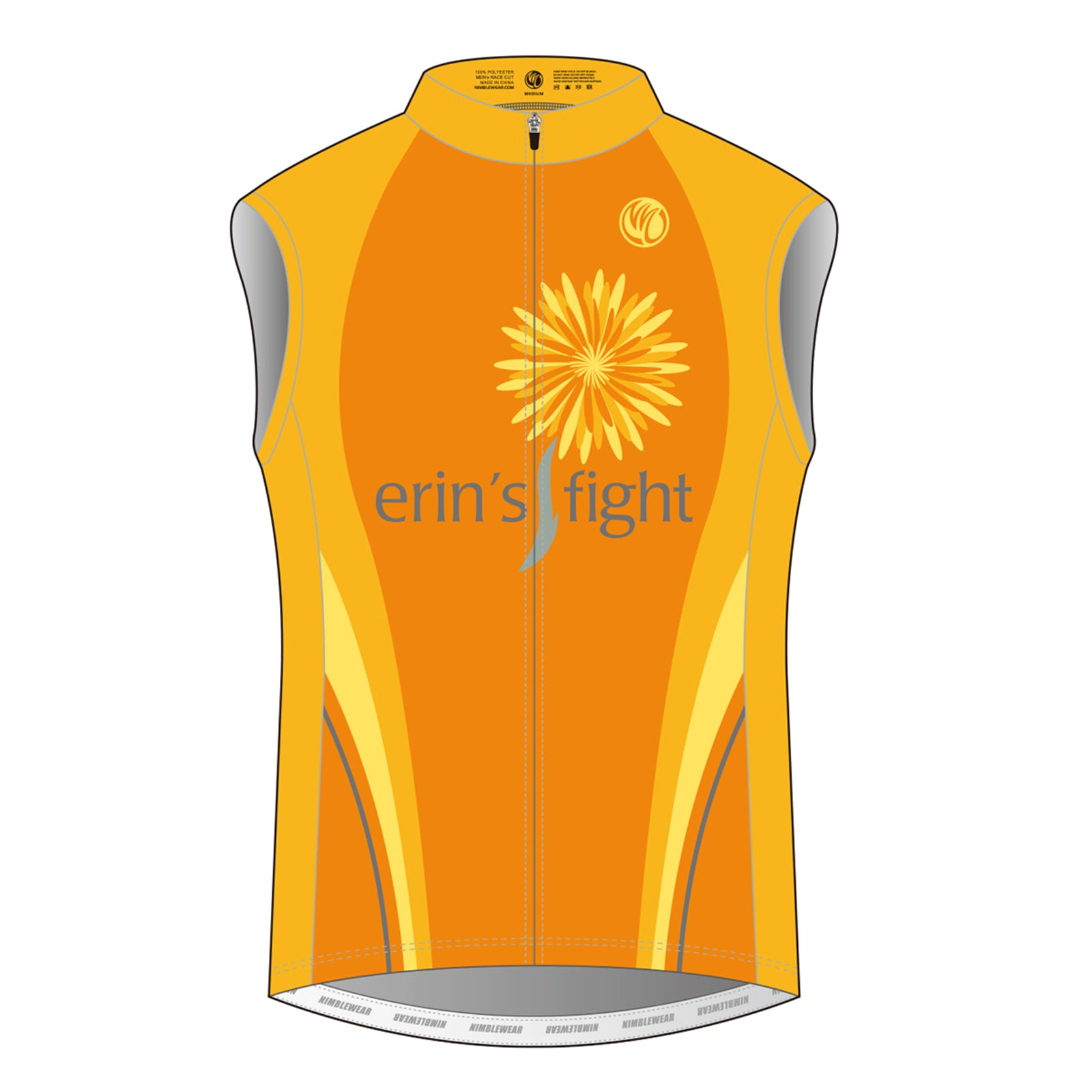 Erin's Fight GOLD Sleeveless Cycling Jersey