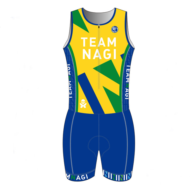 Team Nagi BLUE DESIGN DIAMOND Tri Suit