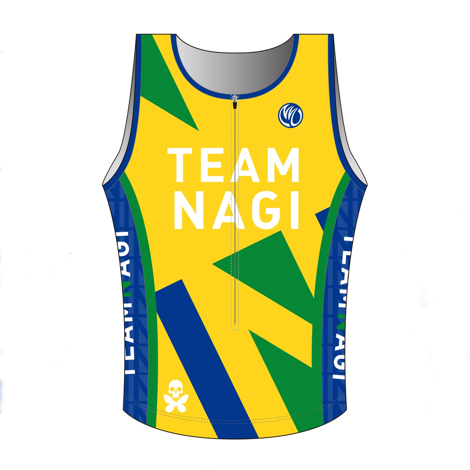 Team Nagi BLUE DESIGN GOLD Tri Singlet
