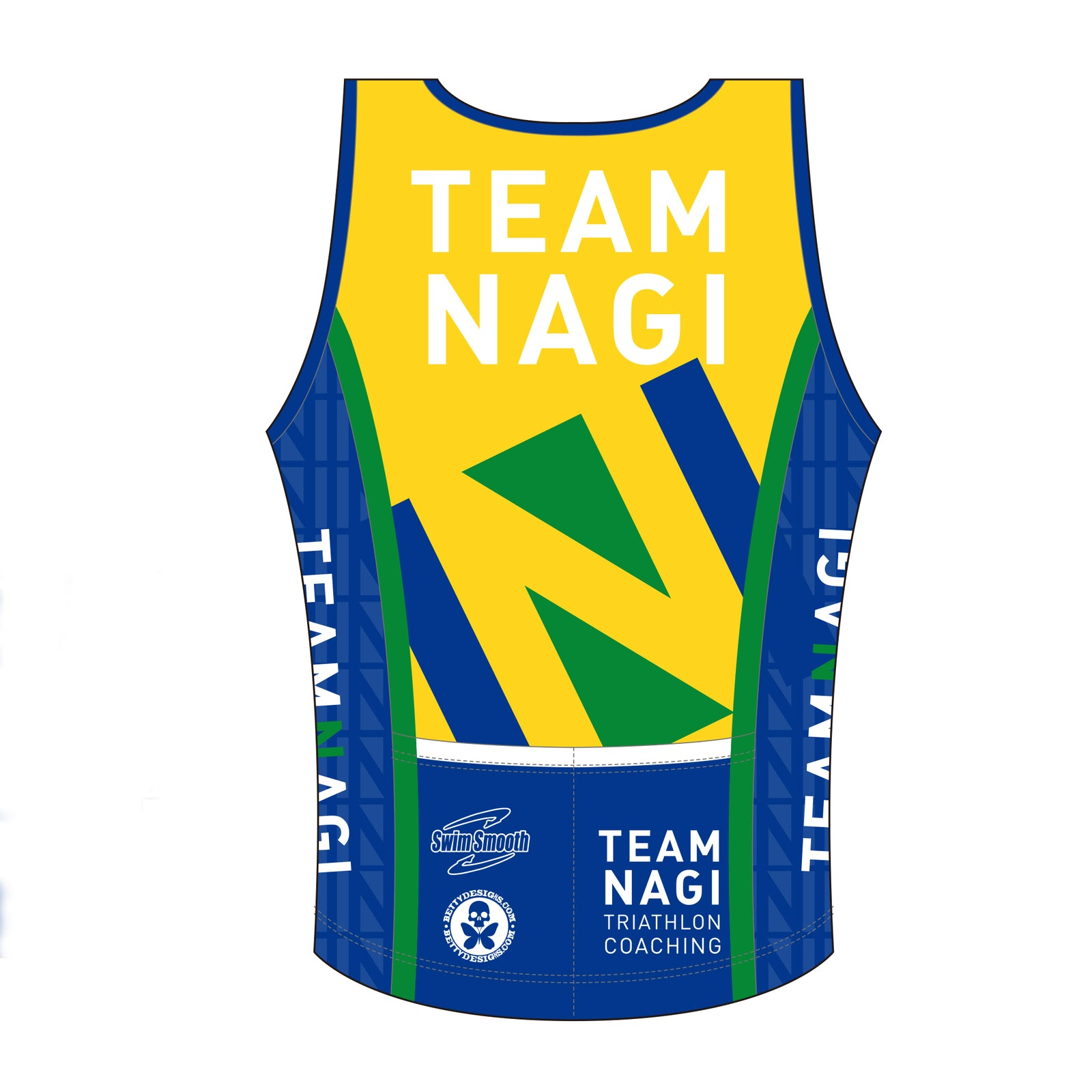 Team Nagi BLUE DESIGN BRONZE Tri Singlet