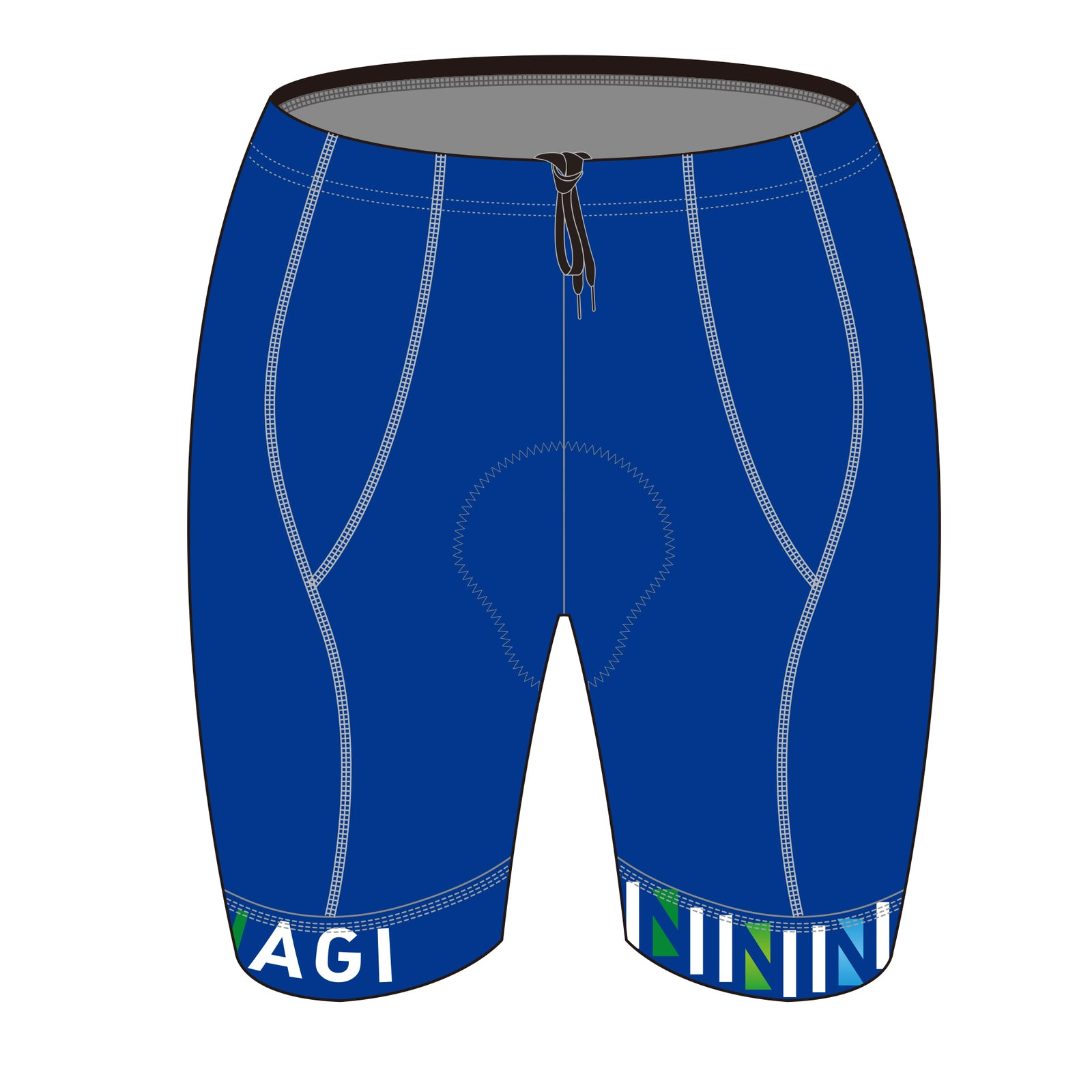 Team Nagi BLUE DESIGN DIAMOND Tri Shorts