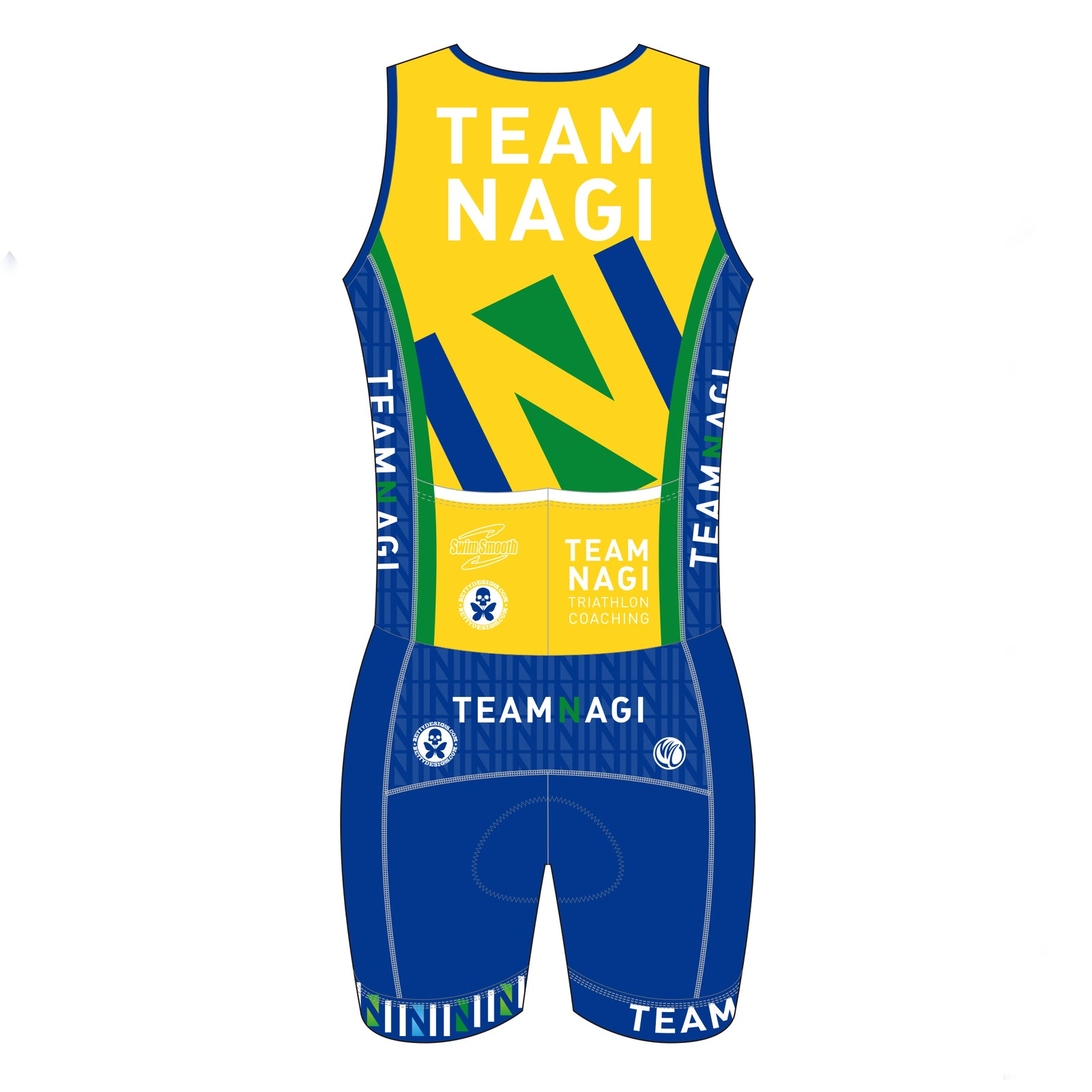 Team Nagi BLUE DESIGN BRONZE Tri Suit