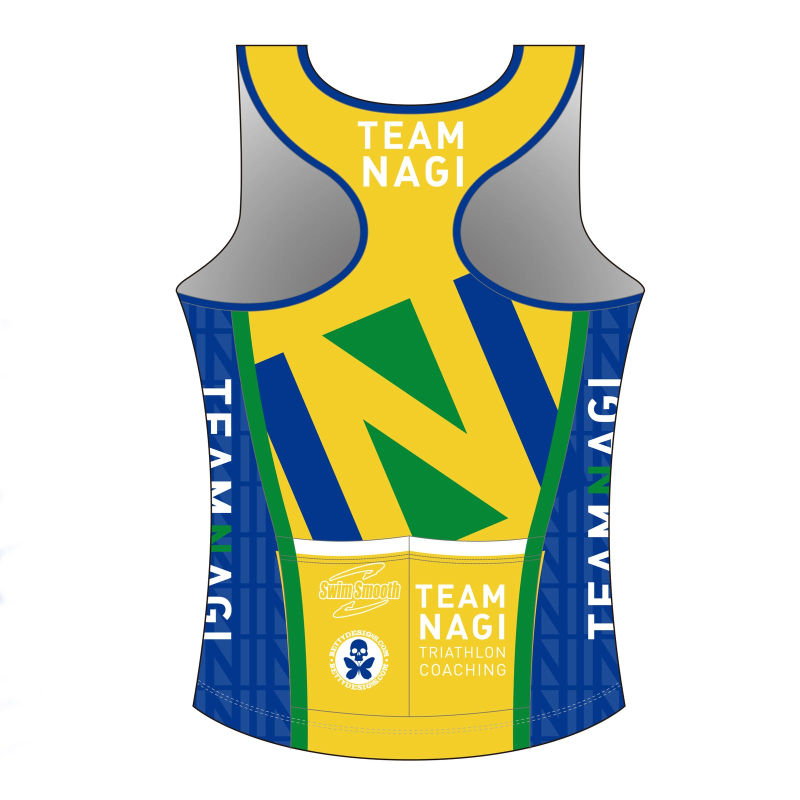 Team Nagi BLUE DESIGN PRO Tri Singlet