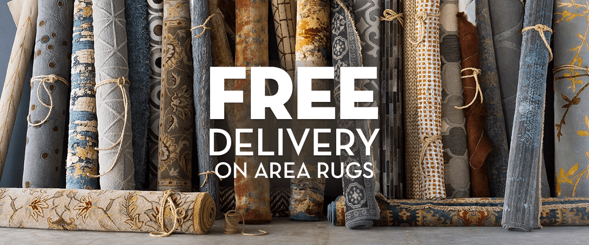Free Delivery on All Area Rugs
