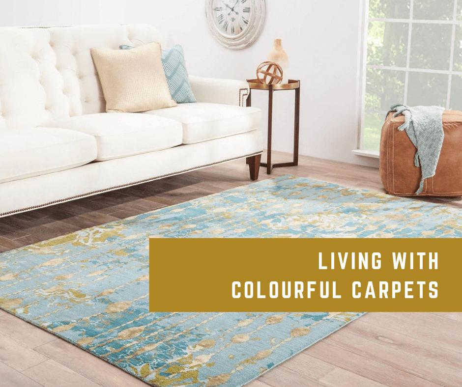 Living with colourful carpets: colourful living ideas