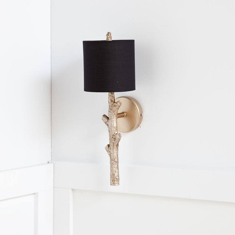 Plock Wall Sconce - Black / Gold