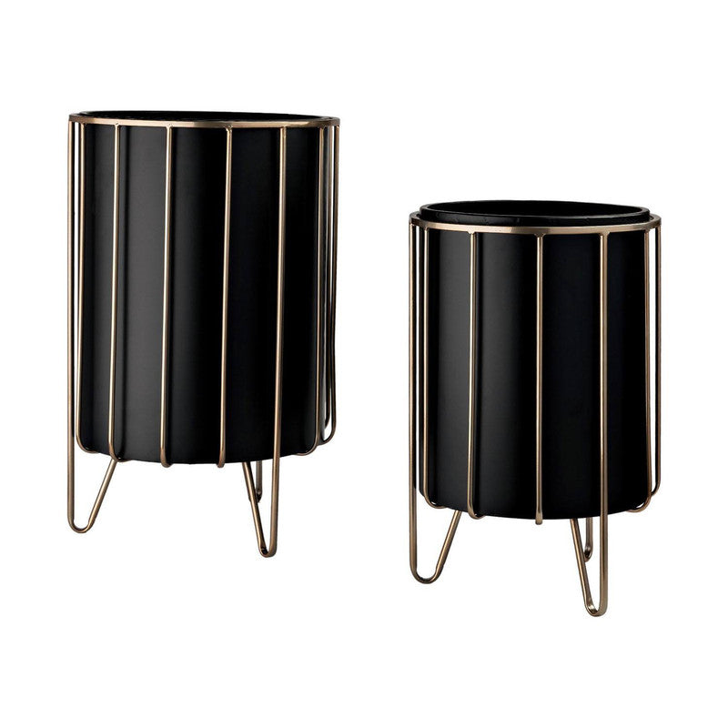 Khuva Planters (Set of 2) - Black