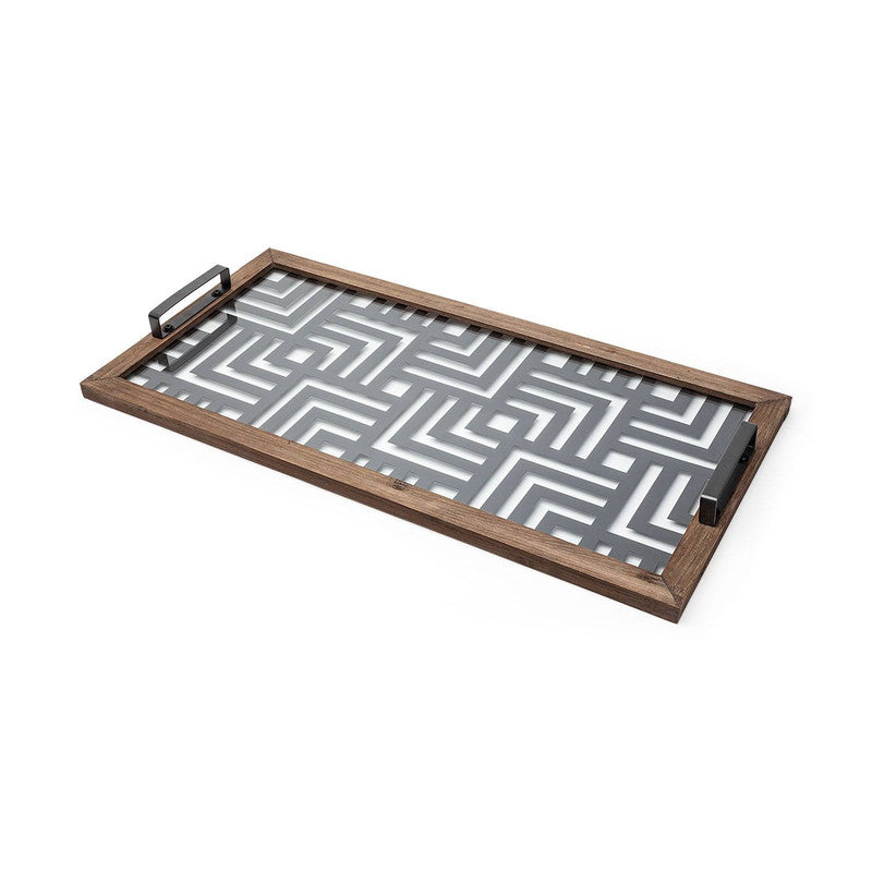 Agros Glass Accent Tray