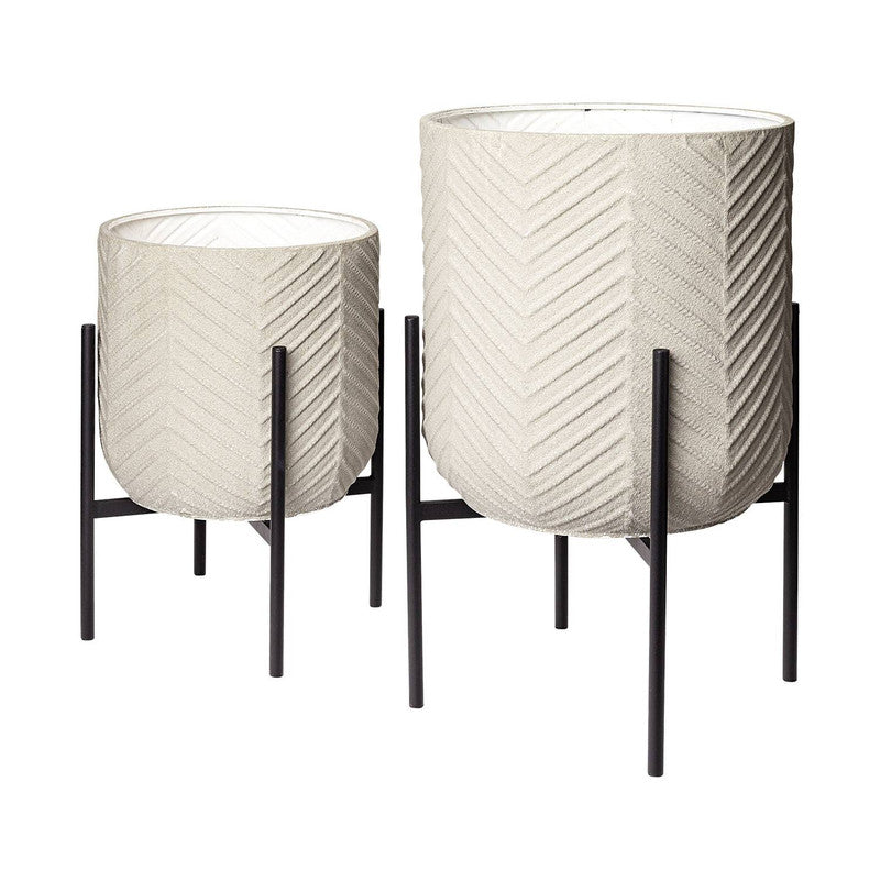 Chuva Planters (Set of 2) - White