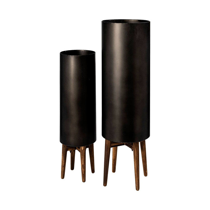 Suva Planters (Set of 2) - Black