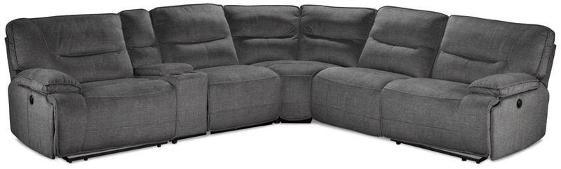 Rylan 6-Piece Power Reclining Sectional - Charcoal