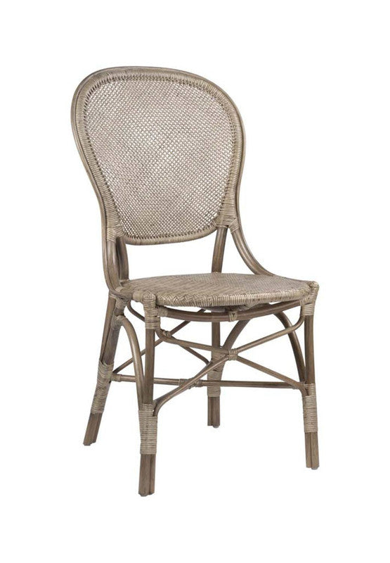 Thamrin Natural Rattan Dining Chair - Grey