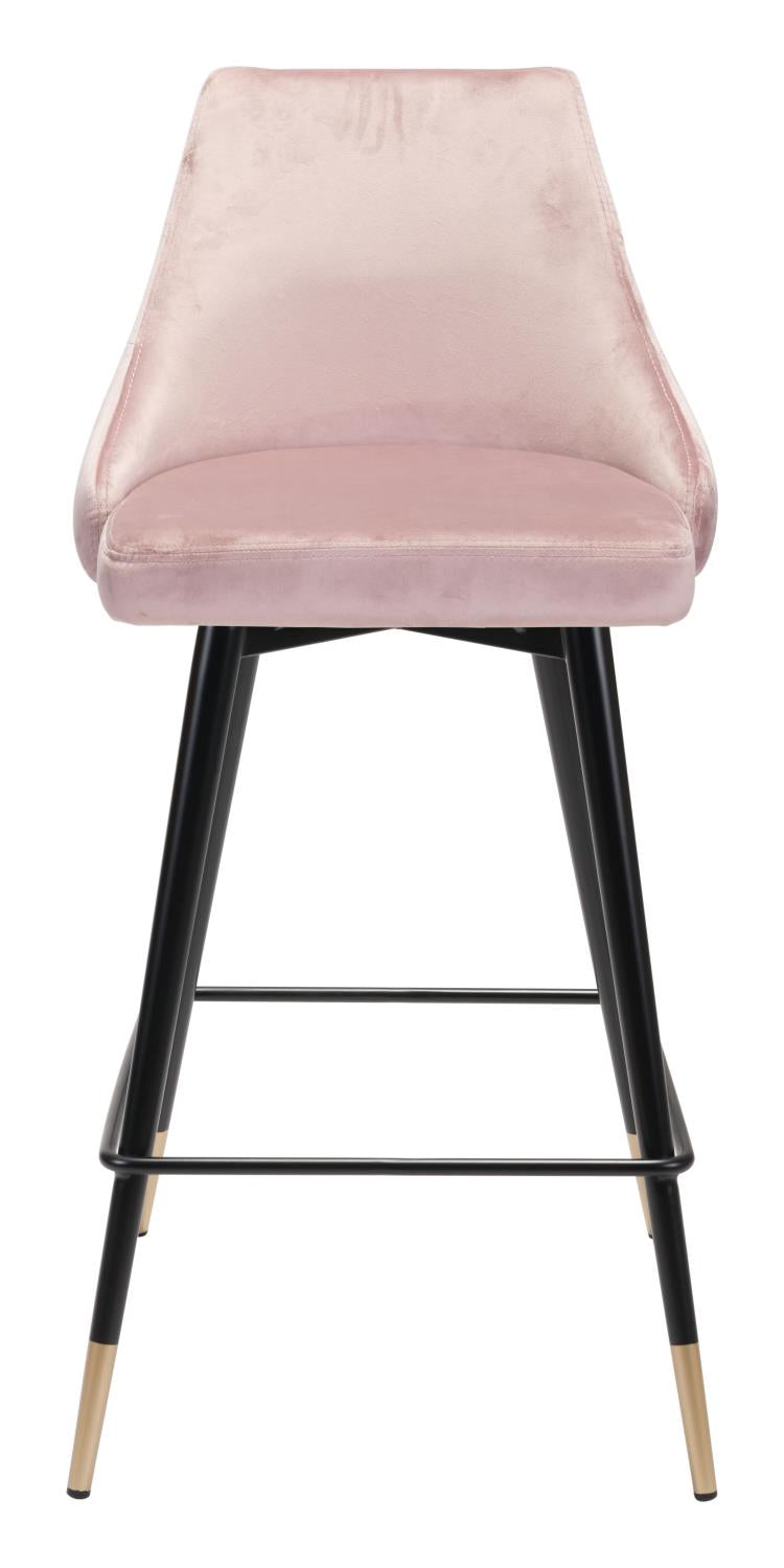 Travis Counter Chair - Blush Velvet