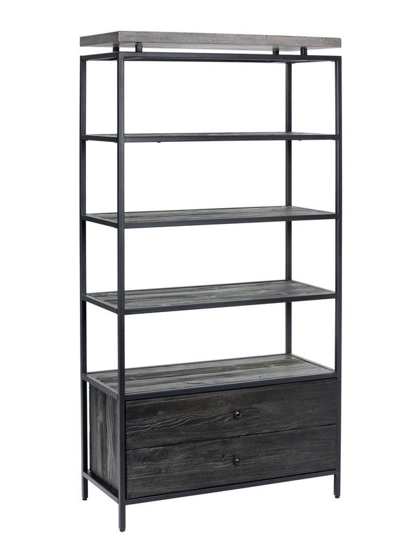 Yeni Concrete Bookcase - Black