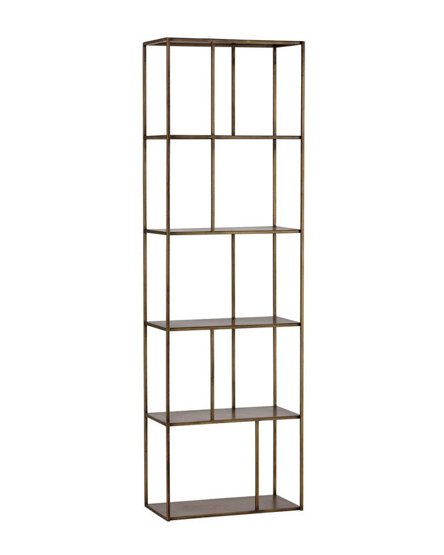 Tournai Small Bookcase - Brass