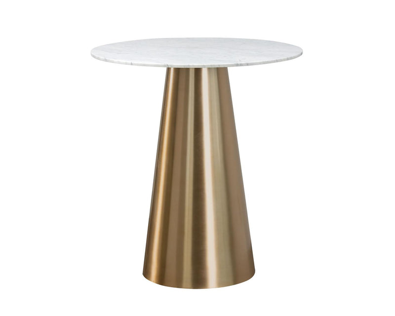 Dash White Marble Bar Table - Gold