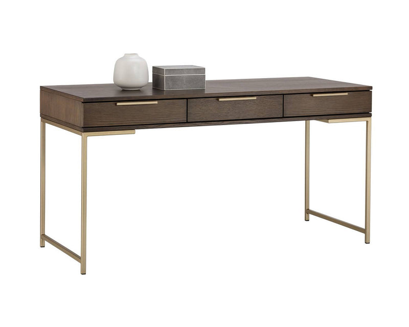 Andreoli Desk - Brown/Gold