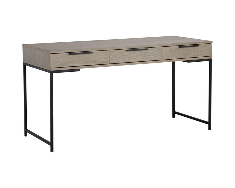 Andreoli Desk - Taupe/Black