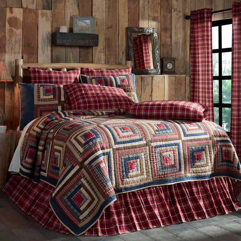Payette Queen Quilt - Apple Red/Navy