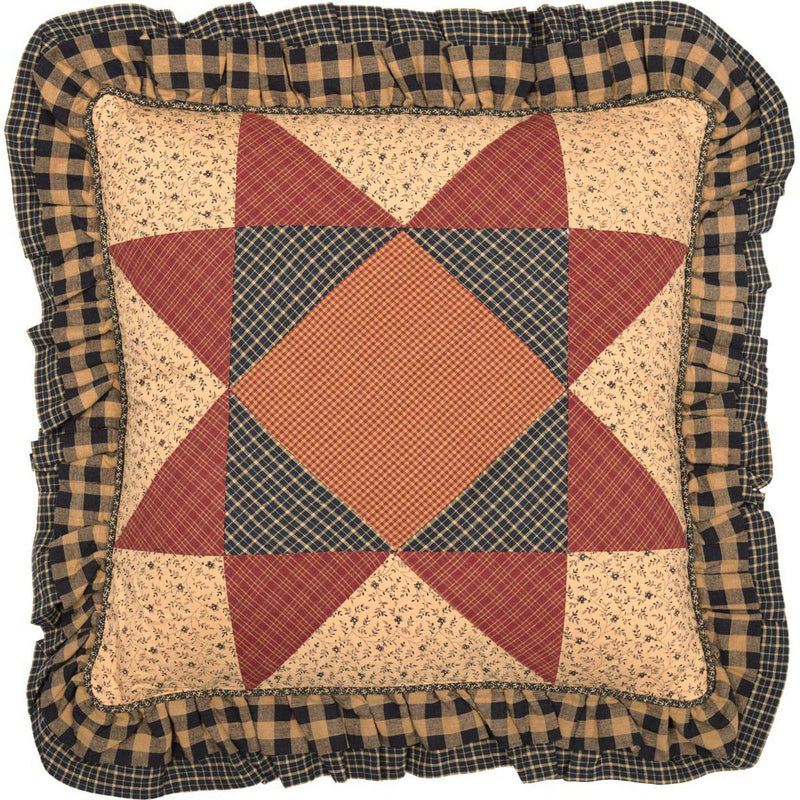 Wooddruff 18 x 18 Pillow - Natural/Burgundy
