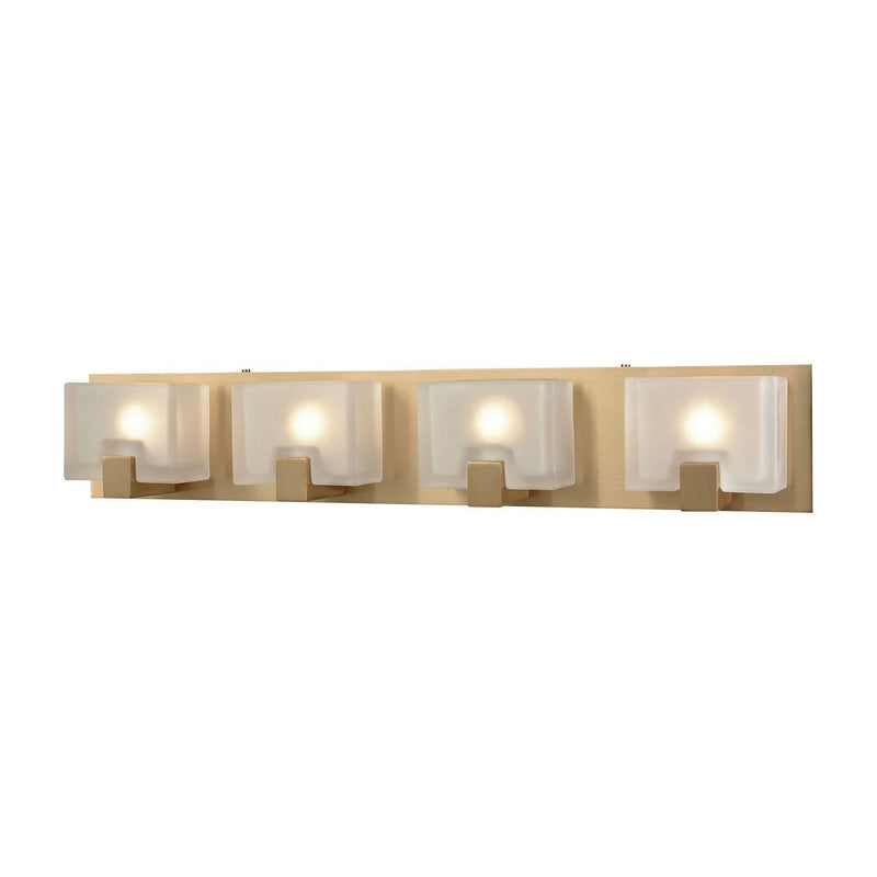 Villedo 4 Light Vanity Light - Satin Brass