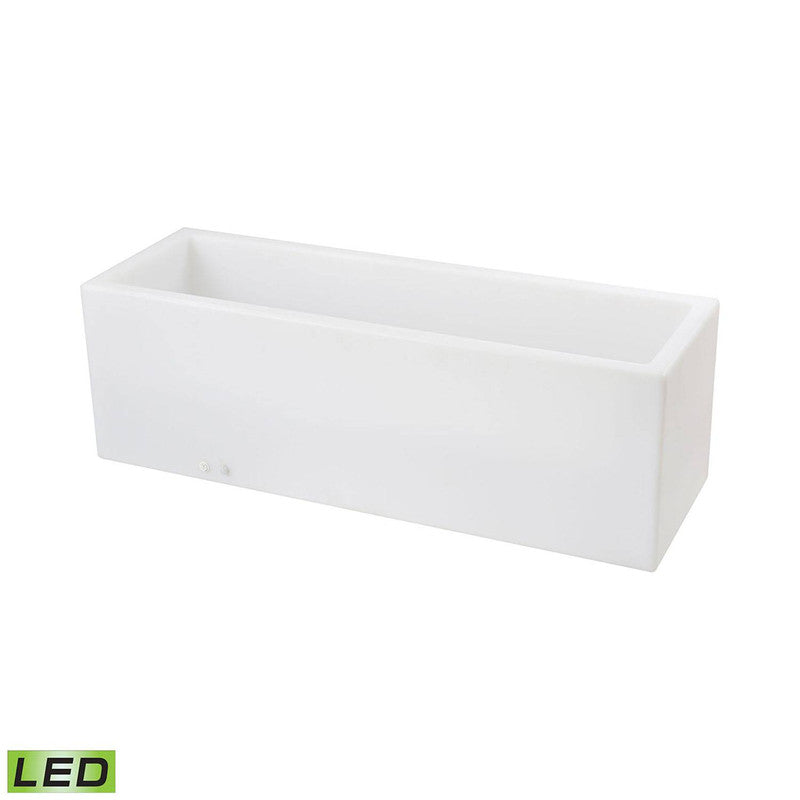 Aslong Glowing LED Planter - White - 47 X 16