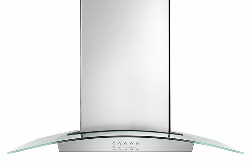 "Whirlpool Stainless Steel 36"" Glass Wall Mount Range Hood (400 CFM) - WVW75UC6DS"