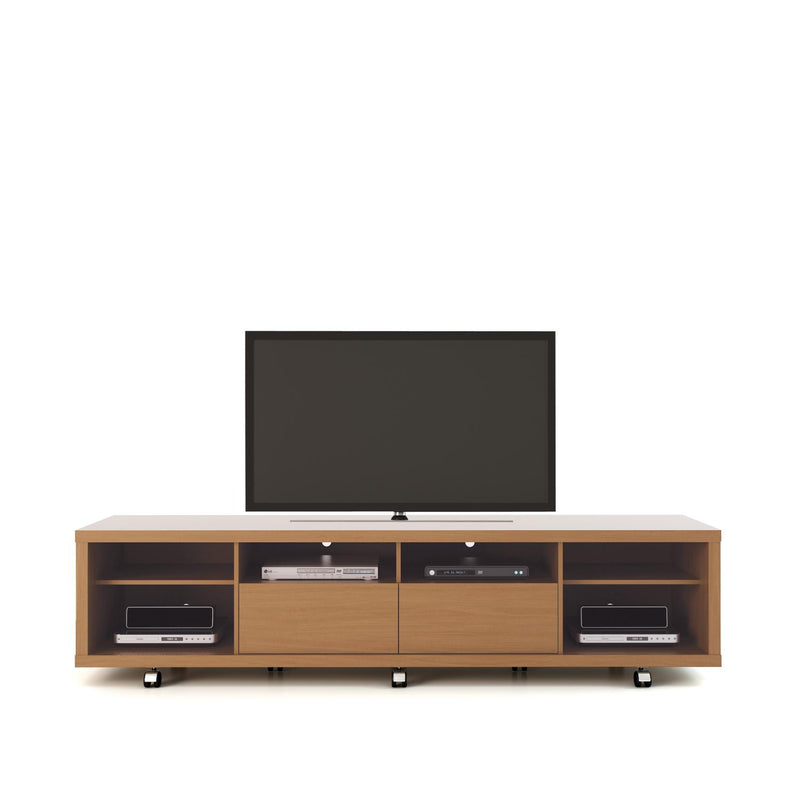 Mabu I TV Stand - Maple Cream/Off White