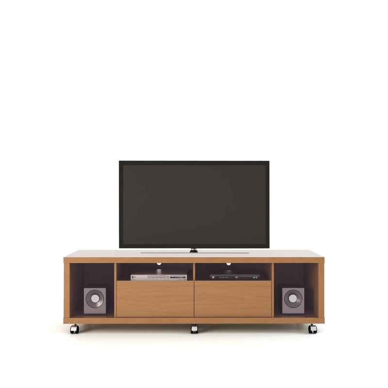 Mabu II TV Stand - Maple/Off White