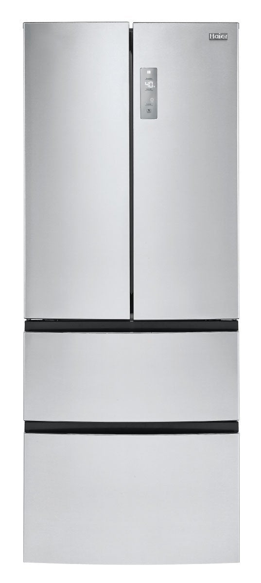 Haier Stainless Steel Counter-Depth French Door Refrigerator (15.0 Cu. Ft.) - HRF15N3AGS