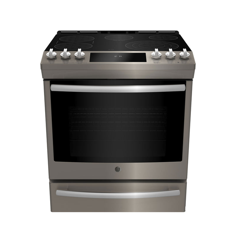 GE Profile Slate Slide-In Electric Convection Range (6.3 Cu. Ft.) - PCS940EMES