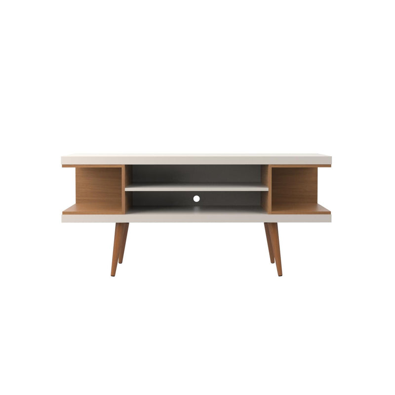 "Aketi 53"" TV Stand - Off White/ Maple Cream"