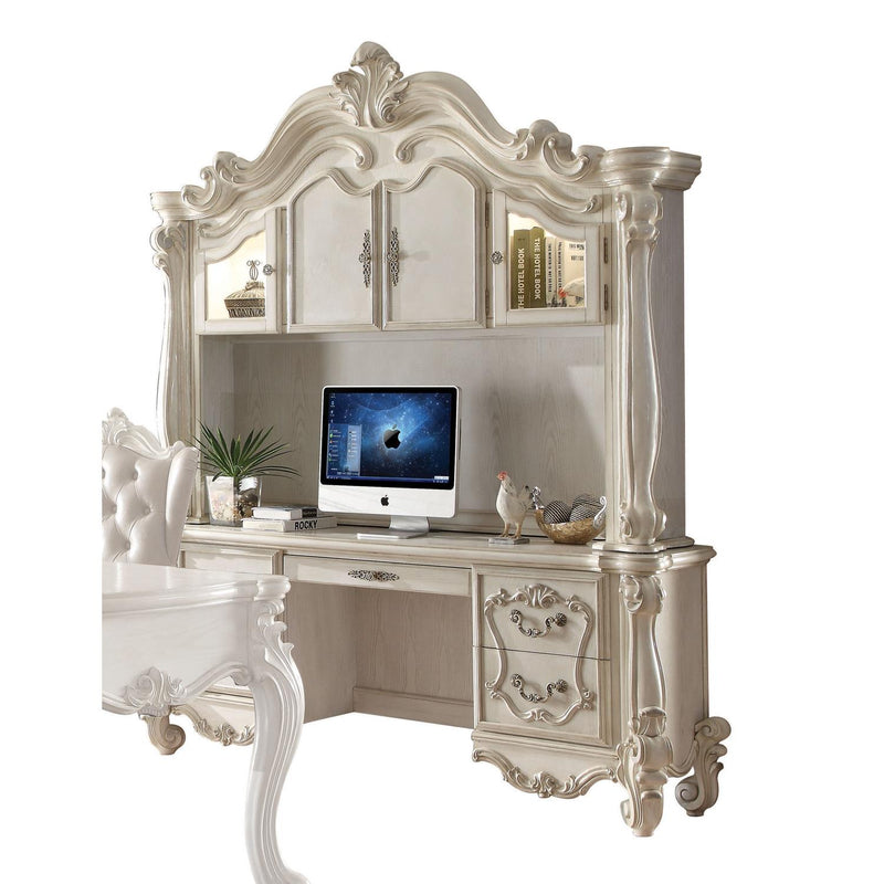 Escalera Computer Desk and Hutch - Bone White
