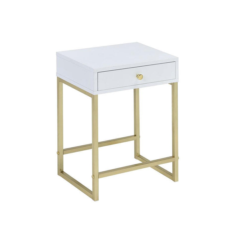 Wingham End Table - White