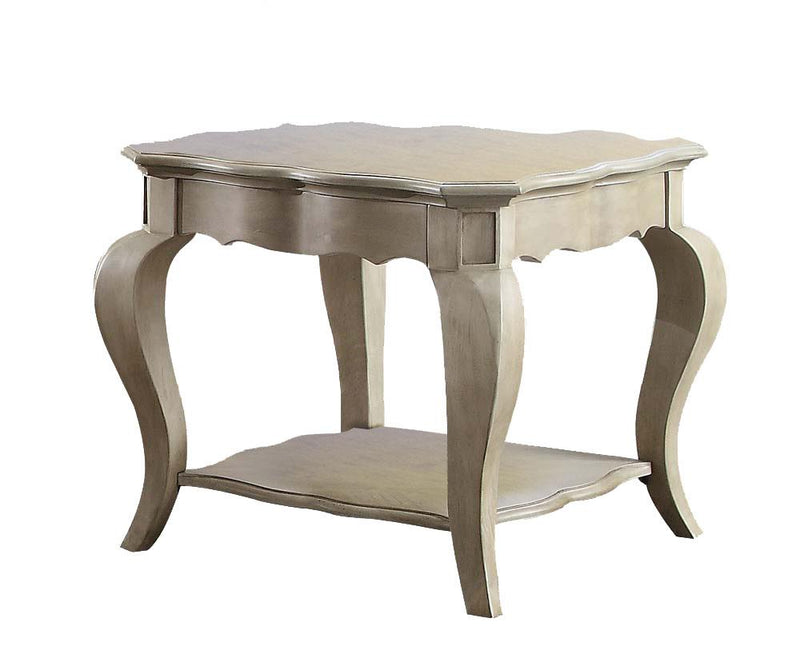 Plumage End Table - Antique Taupe