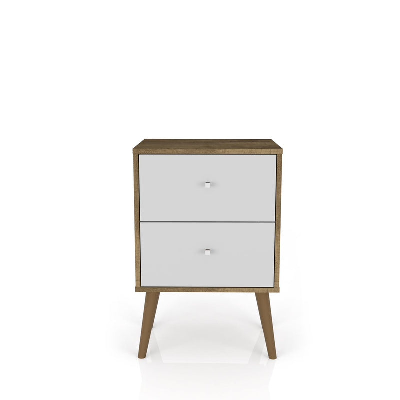 Lekedi II Nightstand White/Rustic Brown