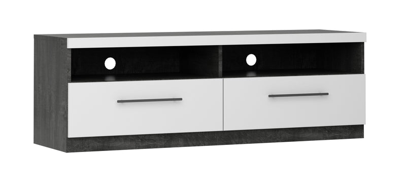 Leopold Console Base - White and Dark Grey