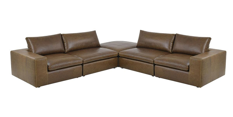 Vico Leather Sectional