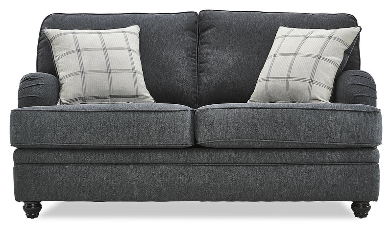 Cayuga Loveseat - Charcoal