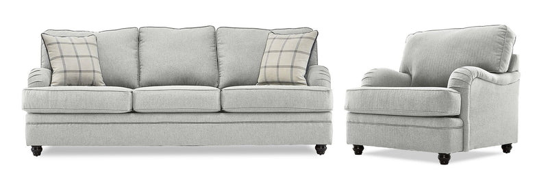 Cayuga Sofa and Chair Set - Linen
