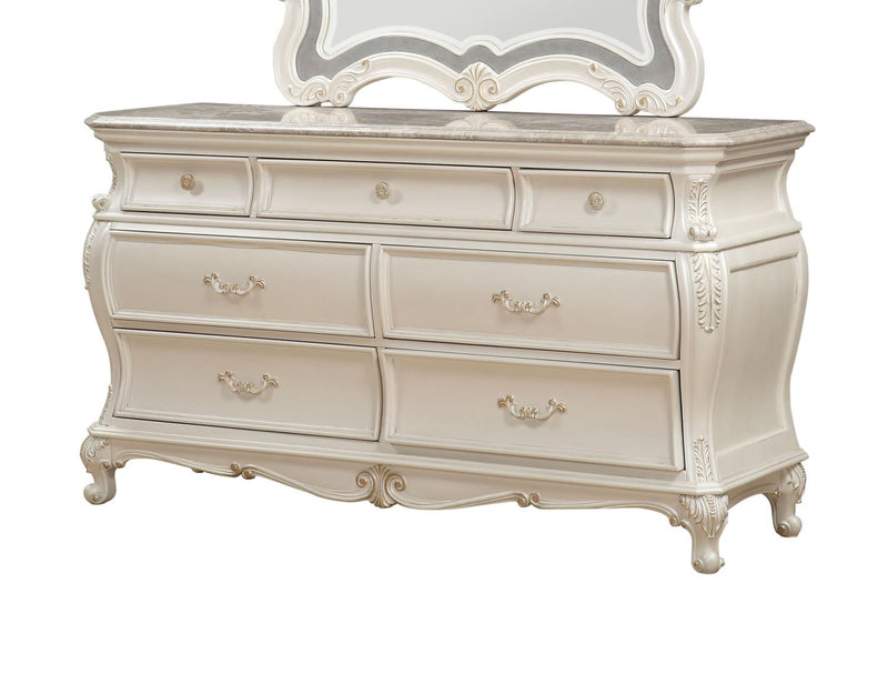 Dauphine Dresser - Pearl White