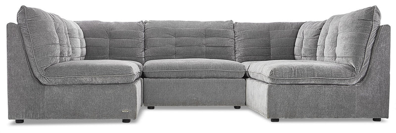Weber 5-Piece Modular Sectional - Granite