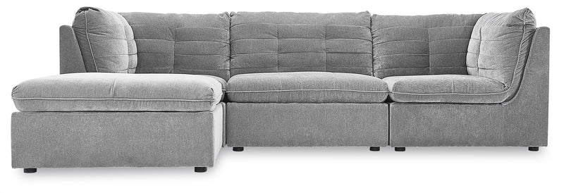 Weber 4-Piece Modular Sectional with Ottoman - Granite