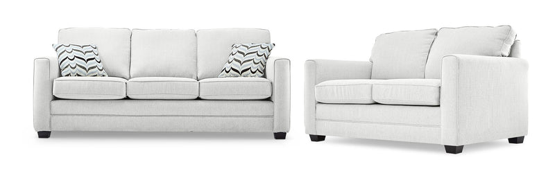 Belton Sofa and Loveseat Set - Grey