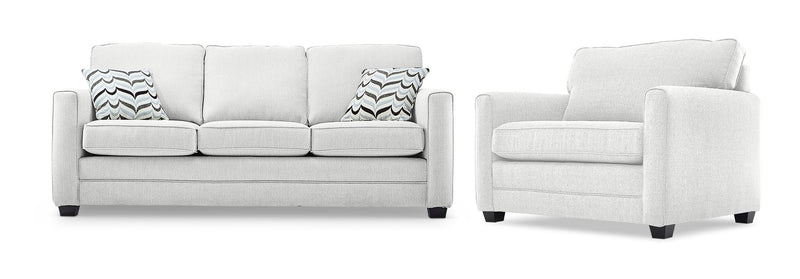 Belton Sofa and Chair and a Half Set - Grey