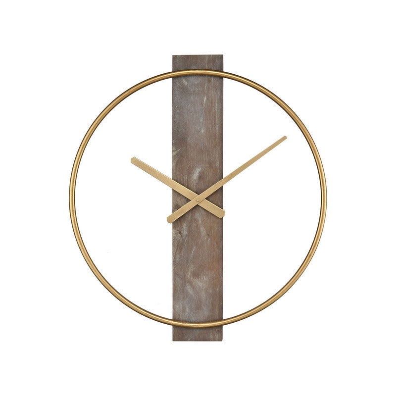 Oodi Clock - Gold/Grey Wood