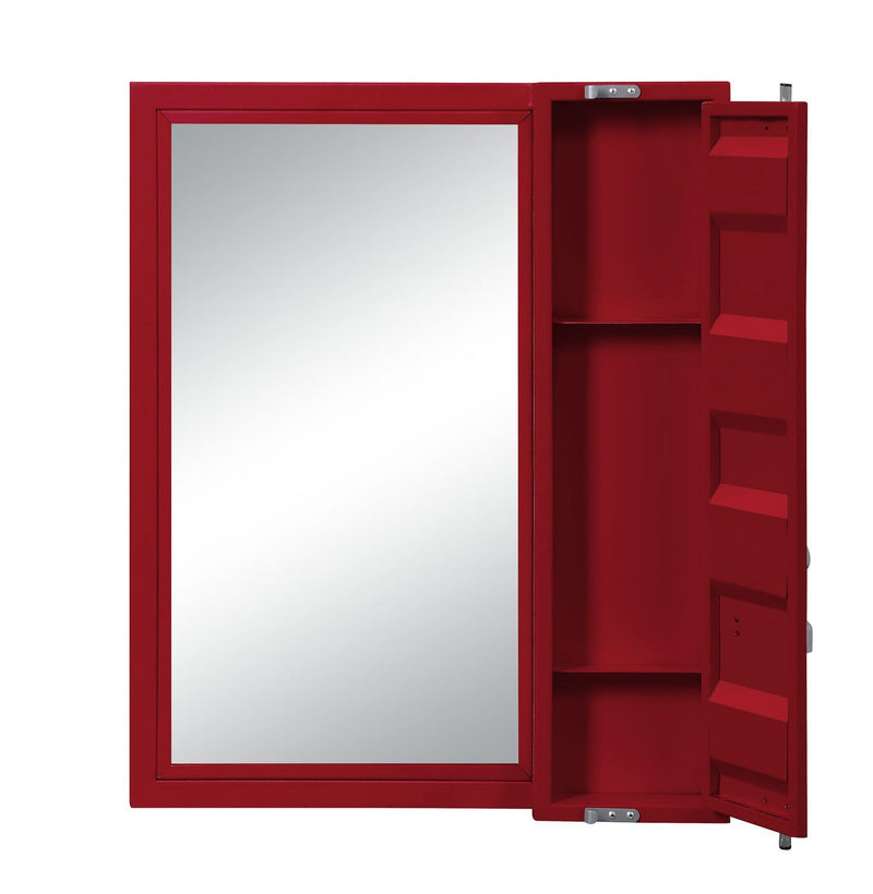 Konto Industrial Vanity Mirror - Red