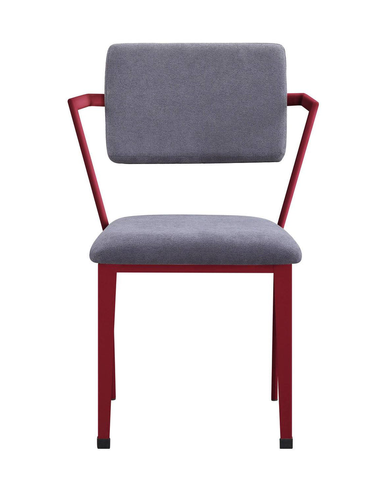 Konto Industrial Arm Chair - Red